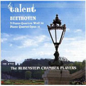 Beethoven: Piano Quartets WoO 36 & Op 16 /Rubinstein Chamber