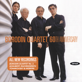 Borodin Quartet - 60th Anniversary / works by Borodin, Tchaikovsky, Rachmaninov, Schubert and Webern