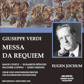 Verdi: Messa da requiem, etc / Jochum, Fricsay, et al