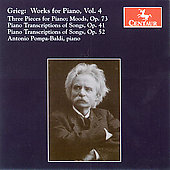 Grieg: Works for Piano Vol 4 / Pompa-Baldi