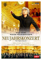 Vienna Philharmonic - New Year's Concerto, 2002; Works by Johann Strass, Josef Strauss, Josef Hellmesberger / Seiji Ozawa, Vienna Philharmonic Orchestra [DVD Video]
