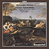 Melani: L'Europa, Sacred Works / Max, Winter, Samuelis, Wessel, et al