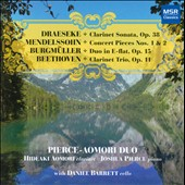Works for clarinet & piano of Draeske, Mendelssohn, Burgmüller & Beethoven / Pierce, Aomori