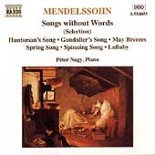 Mendelssohn: Songs Without Words (Selection) / Péter Nagy