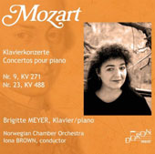 Mozart: Piano Concertos Nos. 9 & 23 / Brigitte Meyer, piano; Norwegian CO, Iona Brown