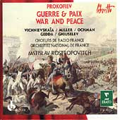 Prokofiev: War and Peace / Rostropovich, Vishnevskaya