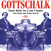 Gottschalk: Piano Music for 2 and 4 hands / Marks, Barrett