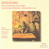 Affetuoso - Oboe Sonatas 1700 - 1750 / Dombrecht, et al