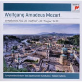 Mozart: Symphonies No. 35 'Haffner'; No. 38 'Prague'; No. 39 / Bavarian Radio SO, Kubelik