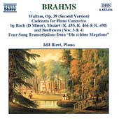 Brahms: Waltzes, Song Transcriptions, etc / Idil Biret