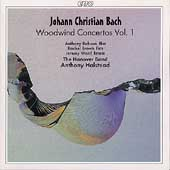 J.C. Bach: Woodwind Concertos Vol 1 / Halstead, Hanover Band