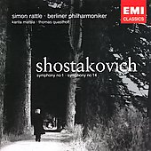 Shostakovich: Symphonies no 1 and 14 / Rattle, et al