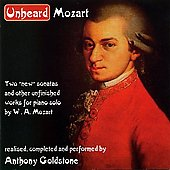 Unheard Mozart  / Anthony Goldstone
