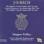 Bach: 'Leipzig' Chorales for Organ BWV 651-668, etc / Margaret Phillips
