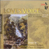 Love's Voice: Songs by Gurney, Ireland, Finzi & Venables / Nathan Vale, tenor