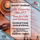 Saint-Saëns: Cello Concertos 1 & 2; Suite for Cello and Orch. / Christine Walevska