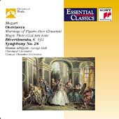 Mozart: Overtures, etc / Schippers, Szell, Entremont, et al