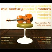 Mid-Century Modern: Four Sonatas for Viola and Piano