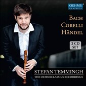 Stefan Temmingh: The Oehms Classics Recordings [3 CD]- Bach: French & English Suites, Corelli: Sonatas 7-12 Op.5, Handel: arias in 18th c. arr. - The Gentleman's Flute / Temmingh (recorder), Olga Watts (harpsichord), et al