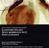 Three contemporary Catalan concertos by Balada, Pico and Guinjoan / Cecilio Tieles, piano; Carles Pertegaz, clarinet; Jurgen Van Win, cello