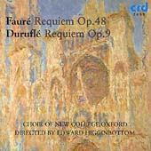 Fauré, Duruflé: Requiems / Higginbottom, New College Choir