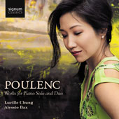 Poulenc: 15 Improvisations; 3 Novelettes; Sonata for Four Hands; L'embarquement pour Cythère; Piano Concerto for Two Pianos / Lucille Chung, piano. Alessia Bax, piano
