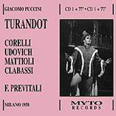 Puccini: Turandot / Previtali, Udovich, Sole, Clabassi, Corelli, Mattioli, et al