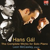 Gál: The Complete Works for Solo Piano / McCawley