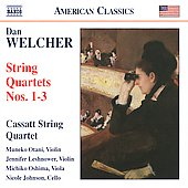 American Classics - Welcher: String Quartets no 1-3 / Cassatt String Quartet