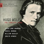 Hugo Wolf: The Complete Songs, Vol. 5 / Sarah-Jane Brandon: soprano; Daniel Norman: tenor; William Dazeley: baritone; Sholto Kynoch: piano