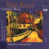 Reger: Chamber Music Vol 1 / Mannheimer Streichquartett
