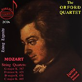 Mozart: String Quartets / Orford Quartet