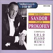 Gy&#246;rgy Sandor Plays Prokofiev - Complete Piano Music Vol 1