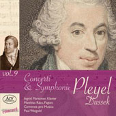 Ignaz Pleyel Edition, Vol. 9 - Concerti & Symphonies / Ingrid Marsoner, piano; Matthias Racz, bassoon. Camerata pro Musica