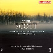 Scott: Symphony no 4, Piano Concerto / Shelley, Brabbins