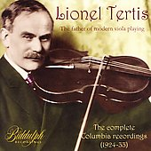 Lionel Tertis - The Complete Columbia Recordings 1924-1933