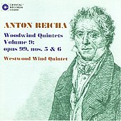 Reicha: Woodwind Quintets Vol 9 / Westwood Quintet