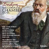 Brahms: Complete Chamber Music / Hamelin, King, Power, New Budapest String Quartet, et al