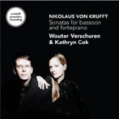 Krufft: Sonatas for bassoon and fortepiano / Wouter Verschuren, Kathryn Cok
