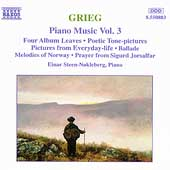 Grieg: Piano Music Vol 3 / Einar Steen-Nökleberg