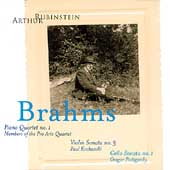 Rubinstein Collection Vol 3 - Brahms: Piano Quartet, etc