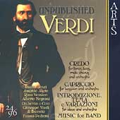 Unpublished Verdi - Credo, Capriccio, etc / Pedretti, et al