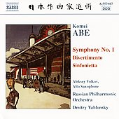 Komei Abe: Symphony no 1, Divertimento, etc / Yablonsky