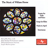 The Music of William Horne: Songs, etc / Frohnmayer, et al