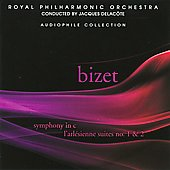 Bizet: Symphony in C, L'Arl&eacute;sienne Suites / Delacote, Royal Philharmonic Orchestra