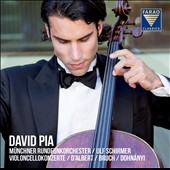 Cello Concertos by D'Albert, Bruch & Dohnanyi / David Pia, cello; Munich Radio SO, Schirmer
