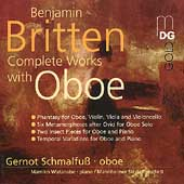 Britten: Complete Works with Oboe / Gernot Schmalfuss, oboe; Mamiko Watanabe, piano