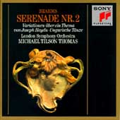 Brahms: Serenade no 2, etc / Tilson Thomas, London SO