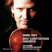 Berg, Britten: Violin Concertos / Hope, Watkins, BBC SO