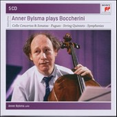 Anner Bylsma plays Boccherini - Cello Concertos & Sonatas; Fugues, String Quintets, Symphonies, Solo Works / Anner Bylsma, cello [5 CDs]